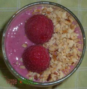 Recette crème glacée yaourt soja-framboises