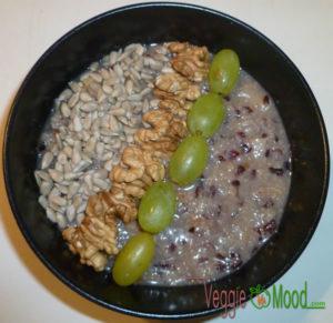 Recette porridge aux flocons d'azukis aux saveurs d'automne