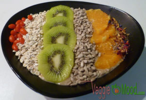 Recette Smoothie bowl banane-mirabelles