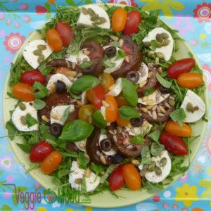 Recette tomates noires mozzarella
