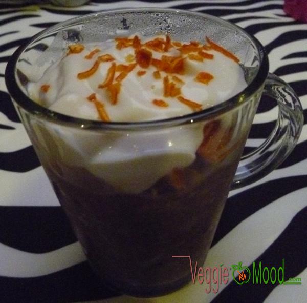Recette overnight porridge caroube-mandarine