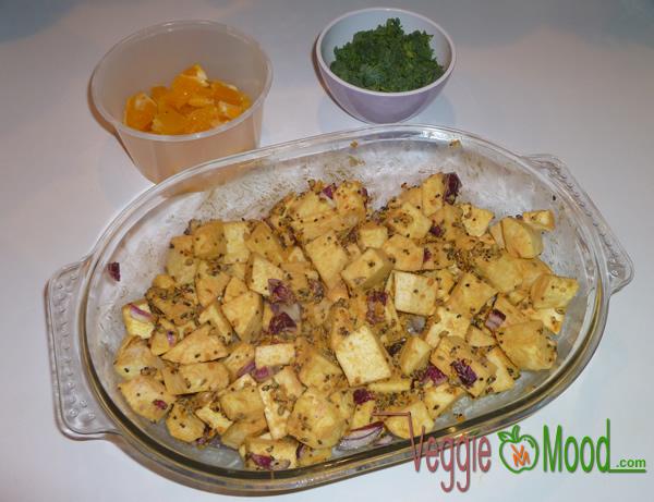 Ingrédients panais rôtis à l'orange, moutarde et épices