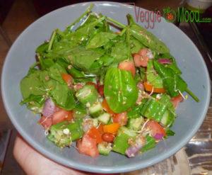 Recette salade de gombos et épinards