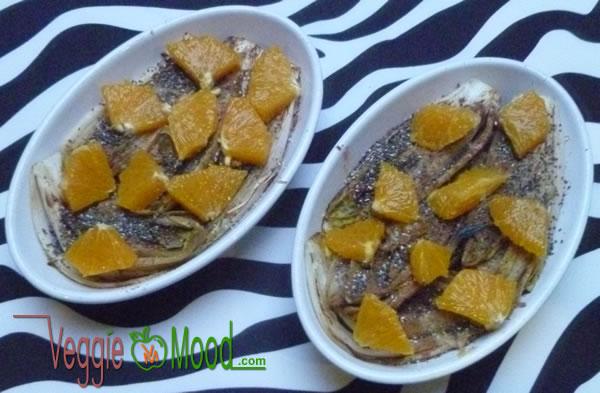 Ingrédients chicons braisés oranges au sirop d'érable et épices