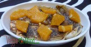Chicons braisés oranges au sirop d'érable et épices
