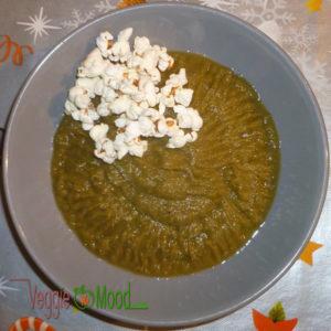 Purée de chicons et poireaux au popcorn