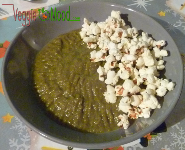 Recette purée de chicons et poireaux au popcorn