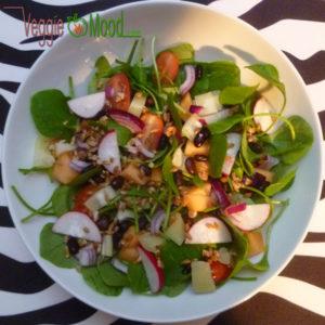 Salade de pourpier vinaigrette au sirop d'érable