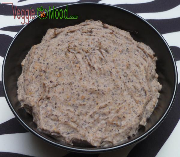 Recette tartinade haricots rouges et graines de lin