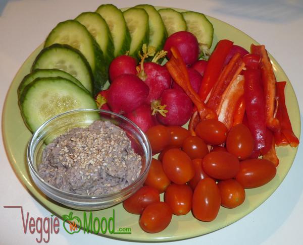 Suggestion de présentation tartinade haricots rouges et graines de lin