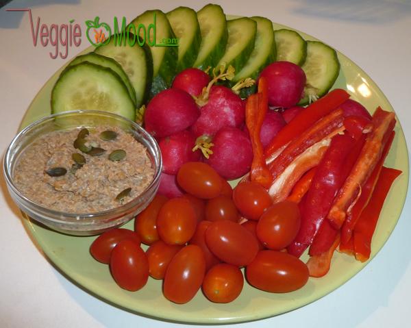 Tartinade petit épeautre au sésame et légumes