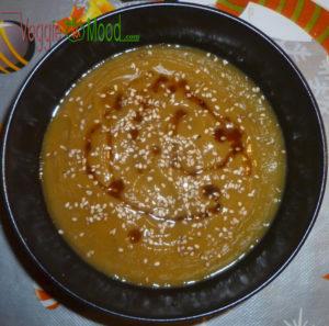 velouté panais et patates douces au sirop d'érable