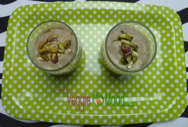 Ingrédients verrine de panais aux pistaches