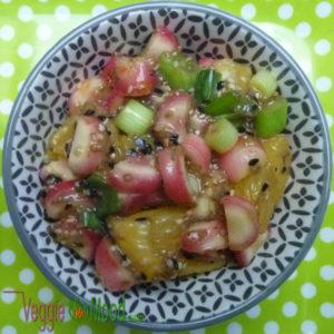 Verrines Oca du Pérou et oranges au sésame