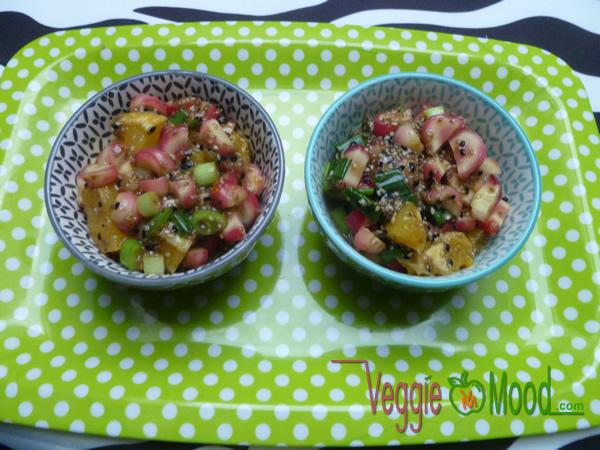 Ingrédients verrines Oca du Pérou et oranges au sésame