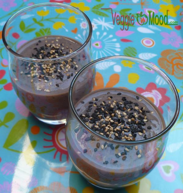 Crème de haricots noirs au sésame