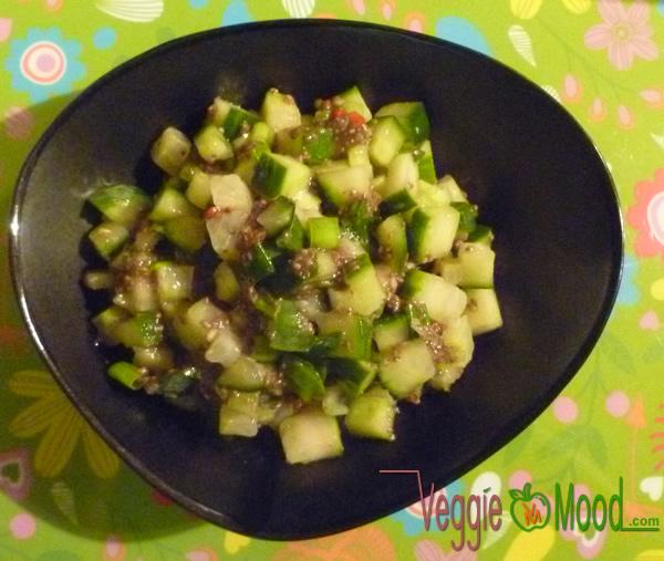 Recette salade de concombre à l'indienne