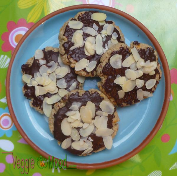 Biscuits vegan à l'avoine eau de fleur d'oranger chocolat