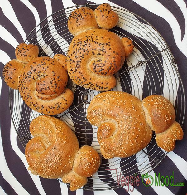 Ingrédients petits pains au lait vegan (lapins de Pâques)