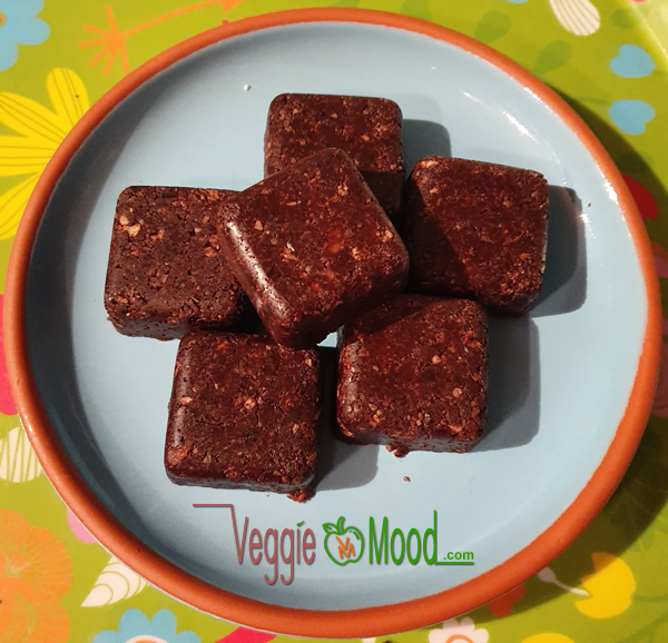 Mini raw brownies aux noix de pécan