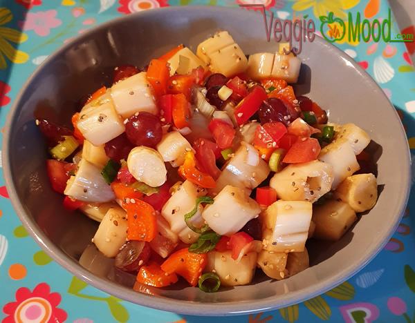 Recette salade d'asperges, vinaigrette au sésame