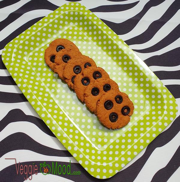 Biscuits vegan salés olives, tomate et origan