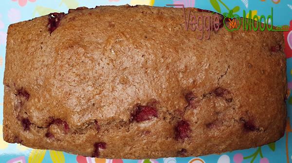 Cake vegan aux framboises