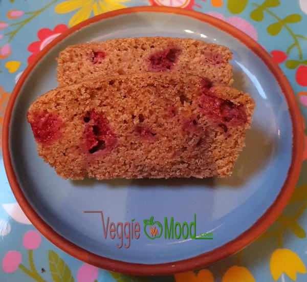 Recette cake vegan aux framboises