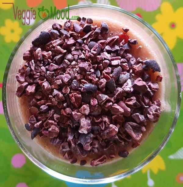 Crème de banane goji grué de cacao (raw)