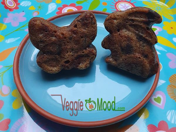 Mini cakes chocolat et épices (formes animaux pâques)