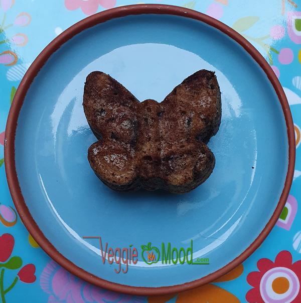 Ingrédients mini cakes chocolat et épices (forme papillon)