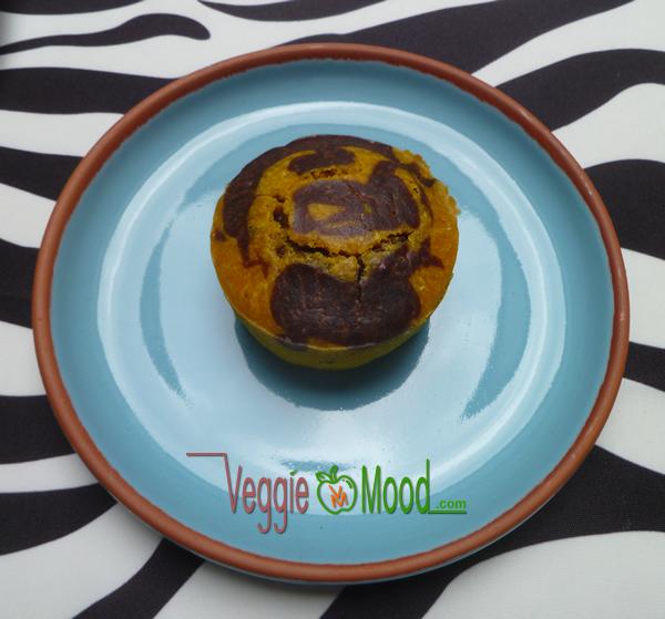 Ingrédients muffins marbrés curcuma et cacao