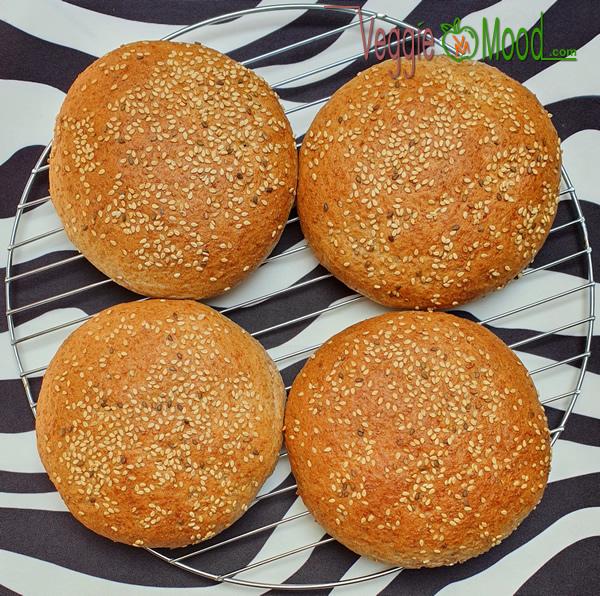 Pains à hamburger maison à la farine d'épeautre