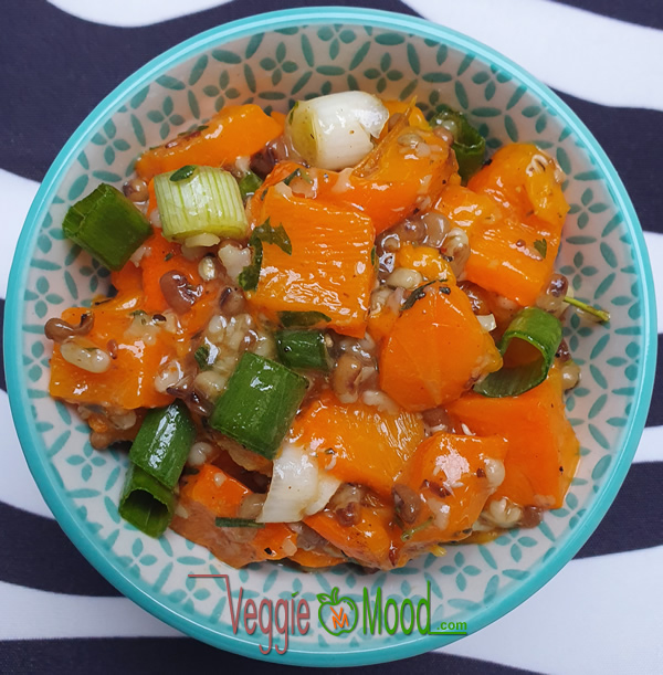 Ingrédients verrines de poivrons oranges et moth beans