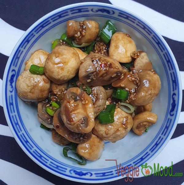 Verrines champignons à l'asiatique
