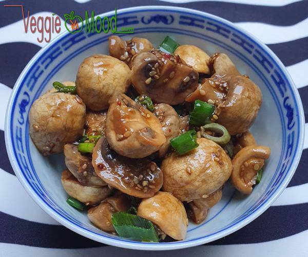 Recette verrines champignons à l'asiatique