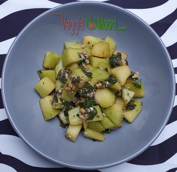 Recette salade de melon à la menthe et aux graines