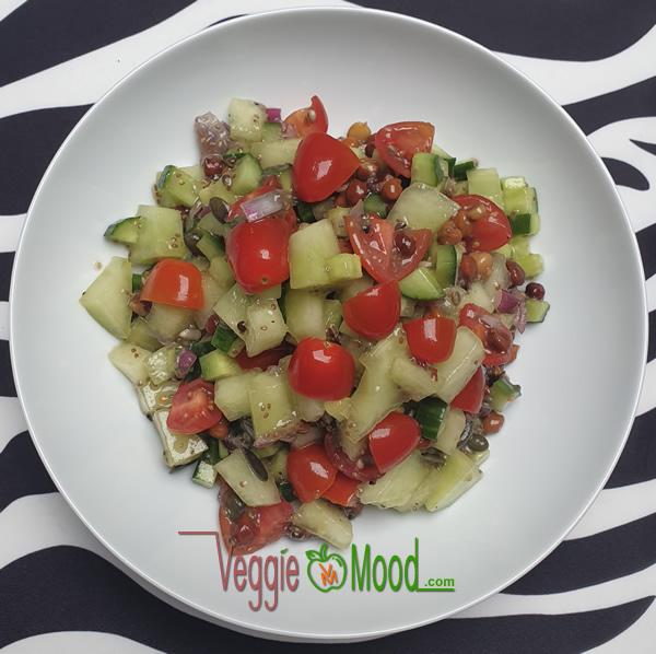 Recette salade de pois chiches et melon à la fleur d'oranger