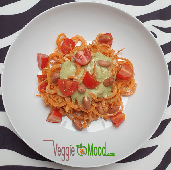 Spaghetti de carottes, sauce salicornes