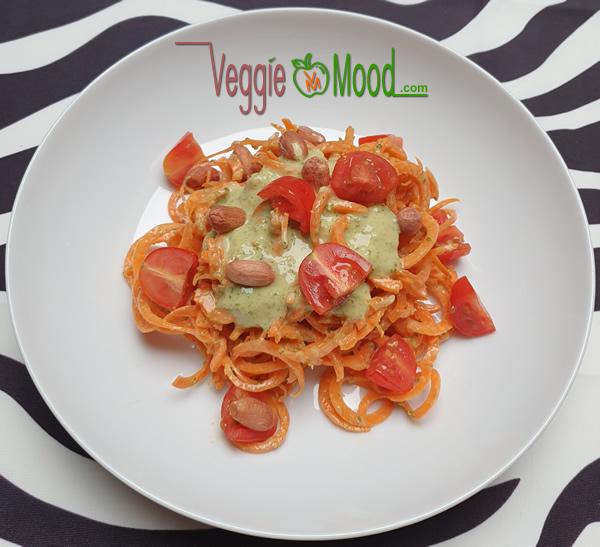 Recette spaghetti de carottes, sauce salicornes