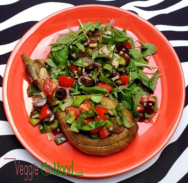 Ingrédients aubergines sauce vierge aux citrons verts et raisins