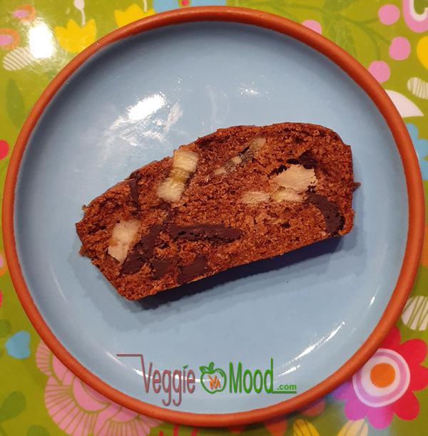 Cake vegan banane, chocolat et amande