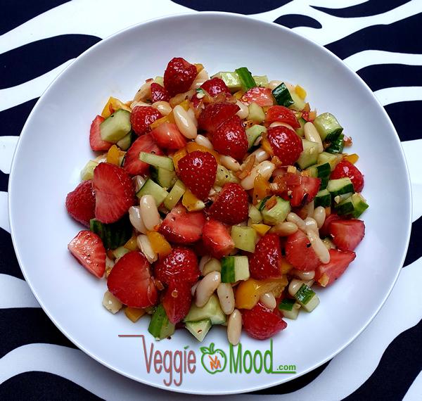 Salade de fraises et de flageolets