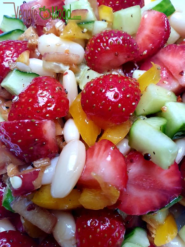 Recette salade de fraises et de flageolets