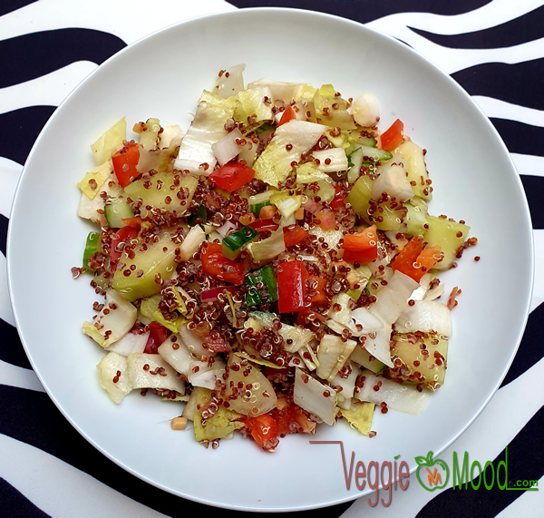 Recette salade de quinoa, chicons et melon