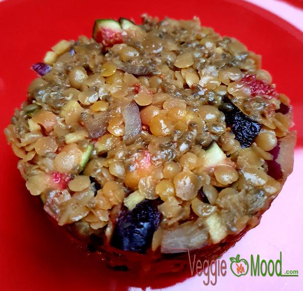 Lentilles corail et figues façon tartare