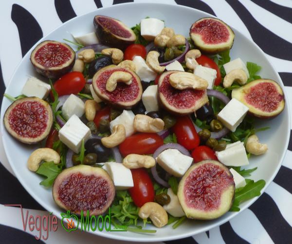 Recette salade de figues fraîches à la mozzarella vegan