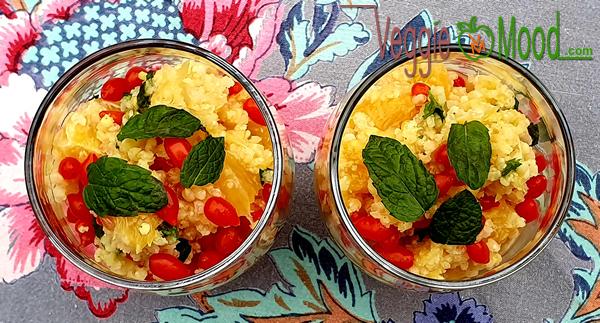 Ingrédients du taboulé oranges et goji