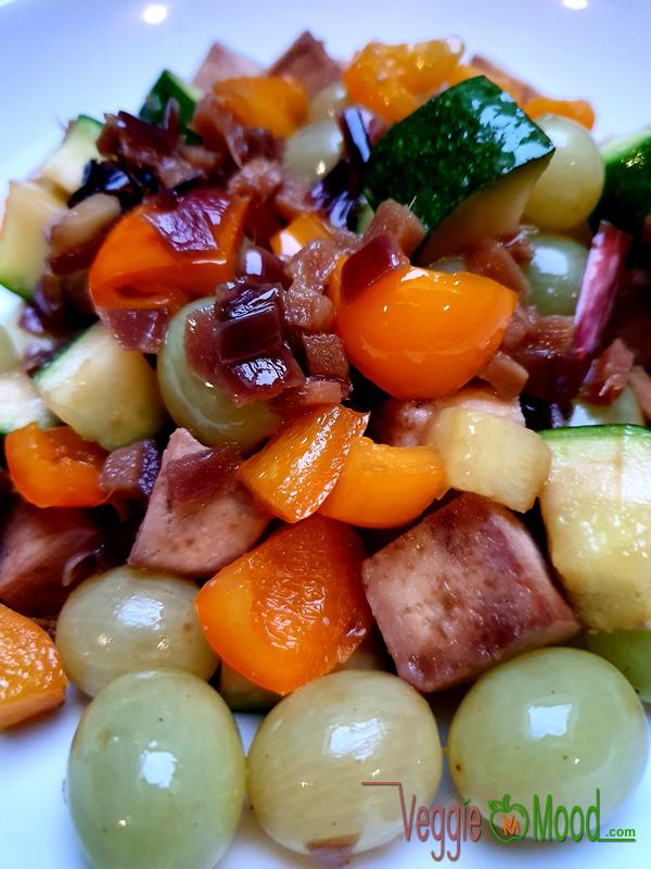 Recette tofu et raisins caramélisés au gingembre