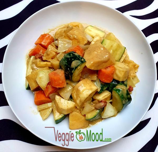 Curry vert de coings et panais au lait de coco